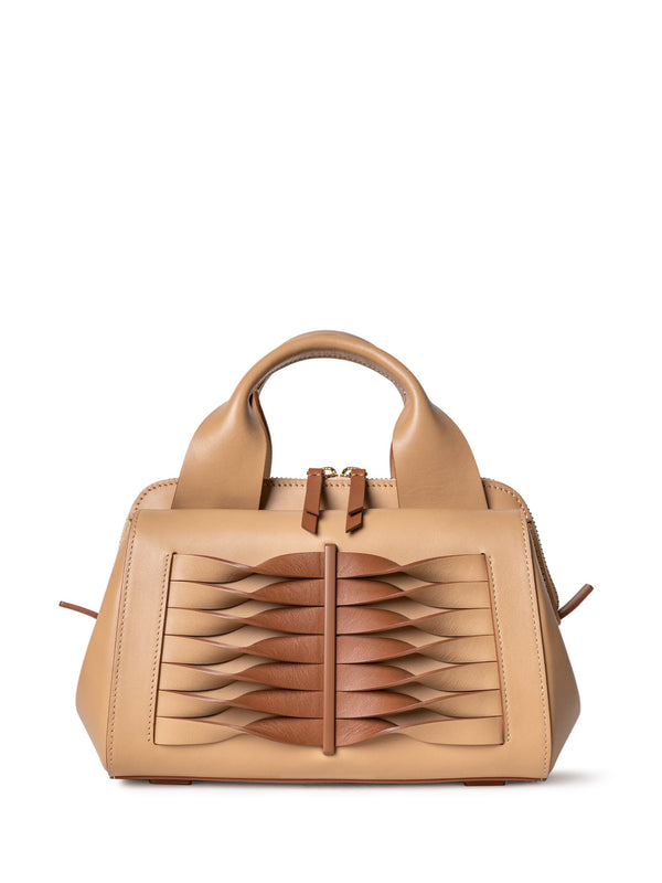Stylish brown shoulder bag online shopping