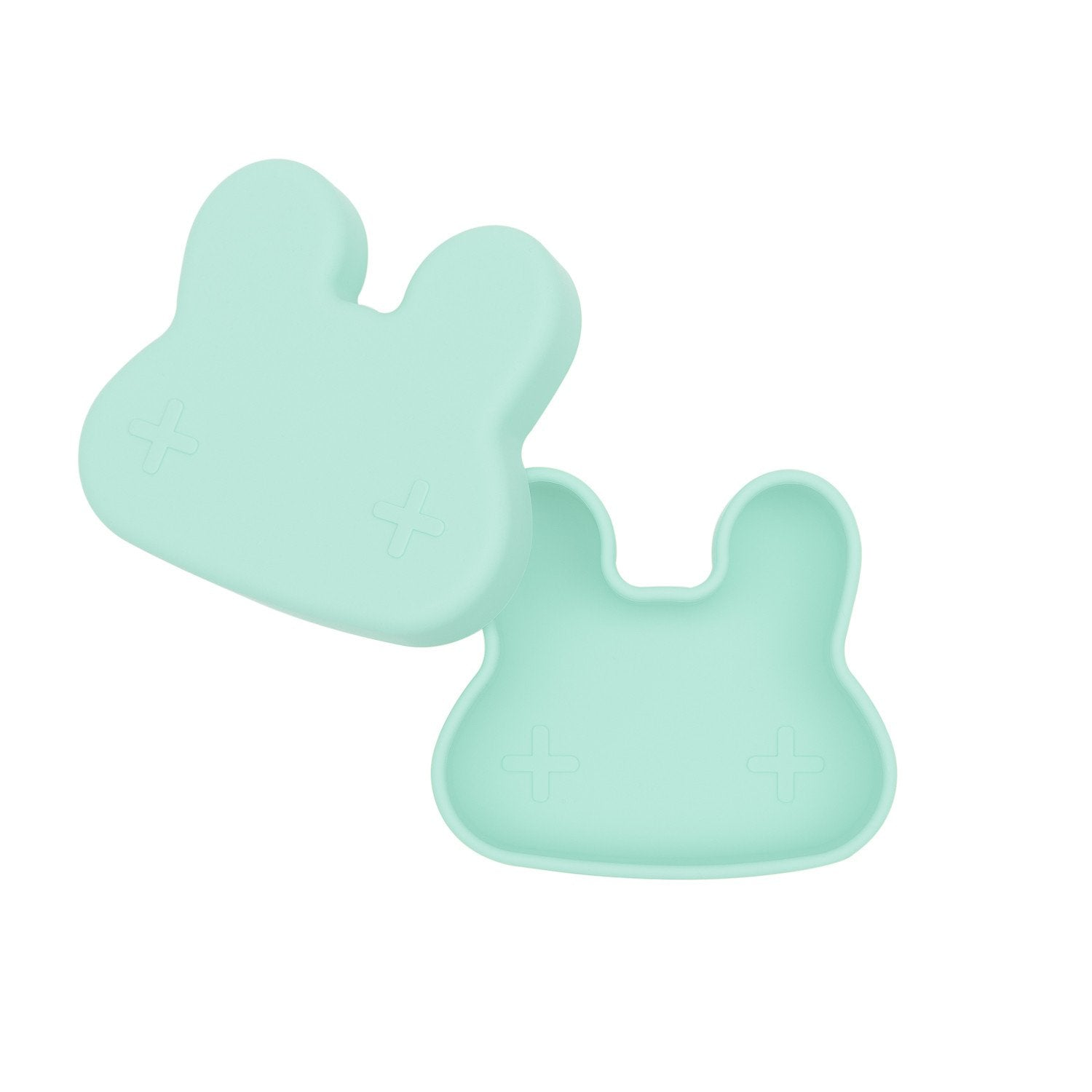 Snackie Bunny Bowl & Plate - Minty Green