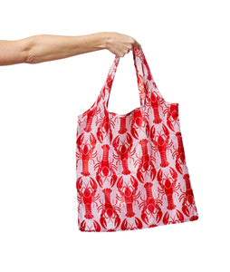 Recycled Nylon Fold up Shopper - Lobster