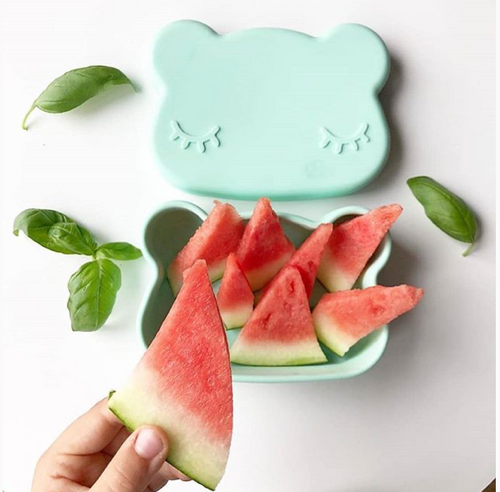 Snackie Bear Bowl & Plate - Minty Green