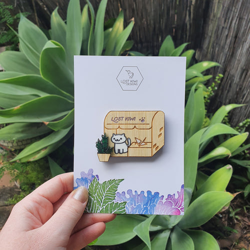 Neko Atsume Shop Brooch