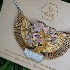 Sakura Bonsai Necklace