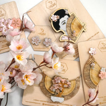 Load image into Gallery viewer, Sakura Geisha Brooch