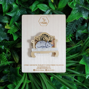 Cat Nap Chair Brooch