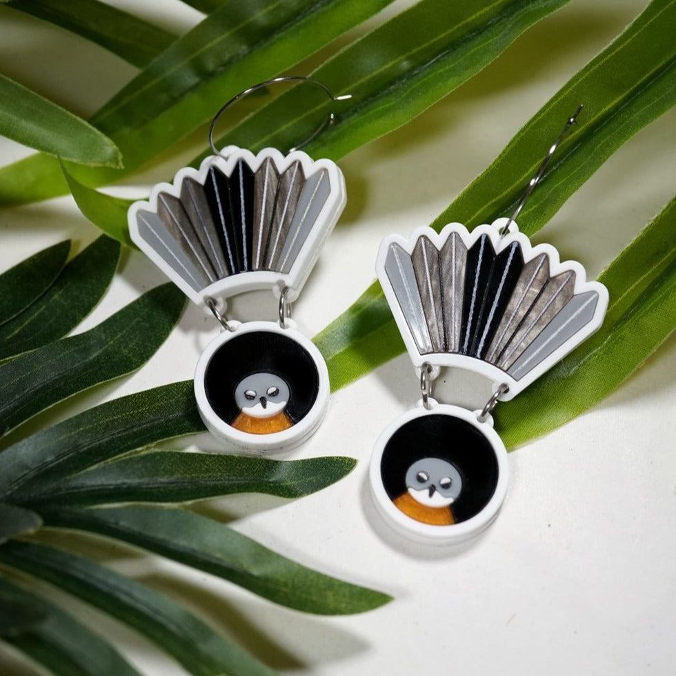 Piwakawaka Earrings