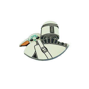 Mandalorian and The Child Brooch
