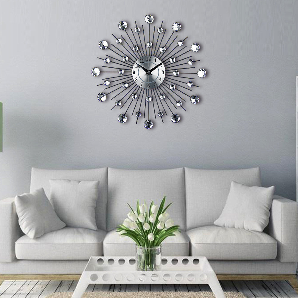 Large crystal modern wall clock wares for my home large crystal modern wall clock amipublicfo Choice Image