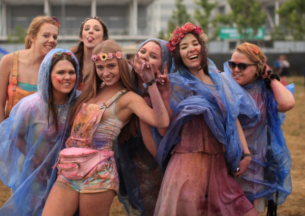girls Holi festival of colours Queen Elizabeth Olympic Park