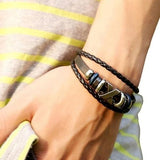 Leather Jewellery Bracelet - Grunge Attire