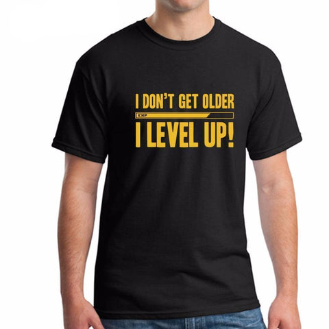 I Level Up! Funny T-Shirt - Grunge Attire