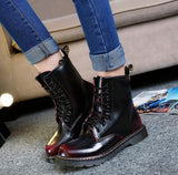 Genuine leather ankle length boots - Grunge Attire