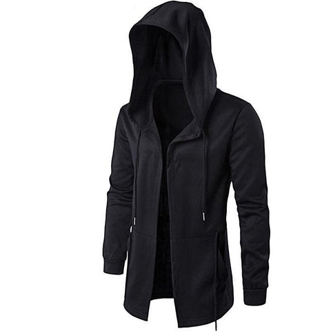 Aonibeier Men Hooded Sweatshirts With Black Gown - Grunge Attire