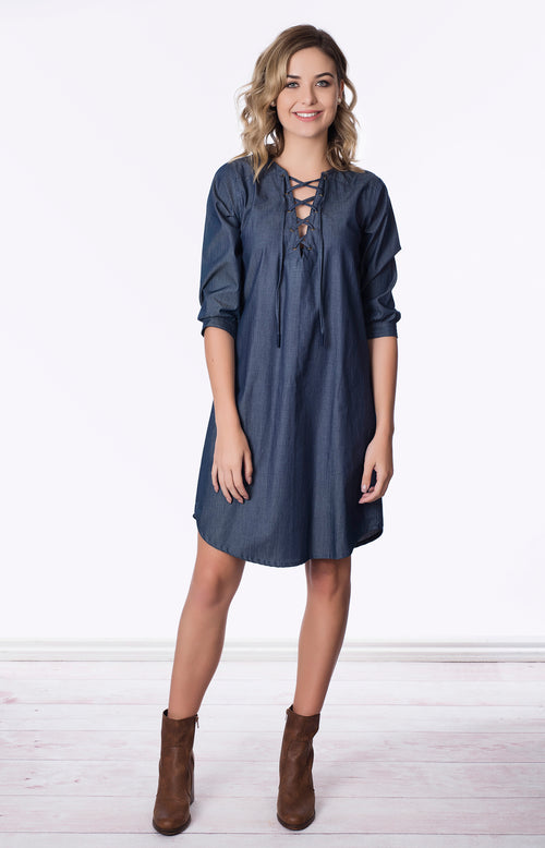 Maddy Dress Denim
