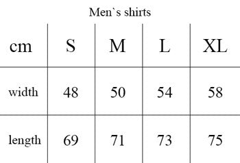 Men`s shirt size