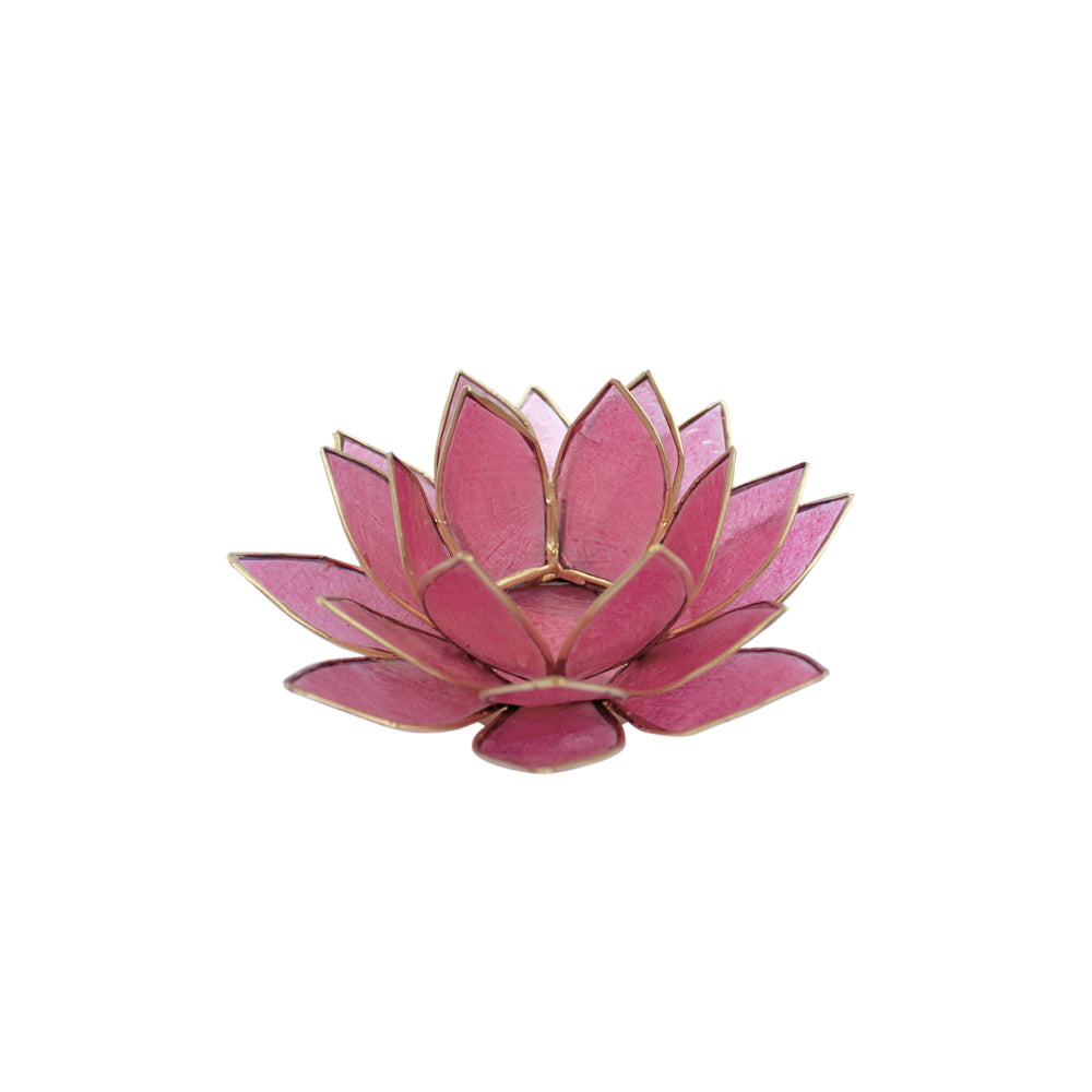 Candle Holder Capiz Lotus pink small