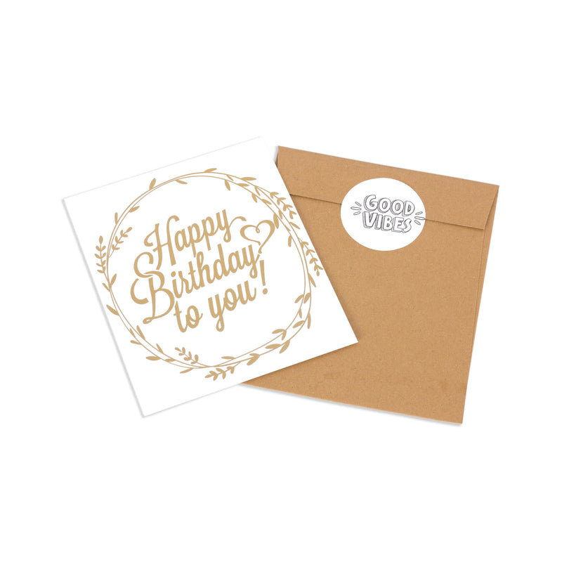 Cards - Happy Birthday - Gold Leaf 1