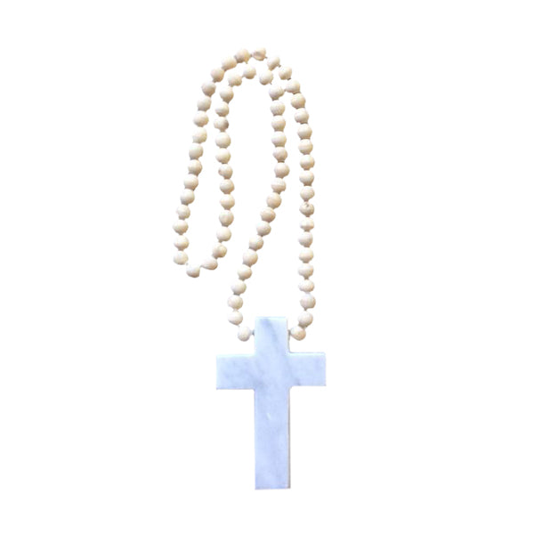 Cross Abel with Beaded Necklace