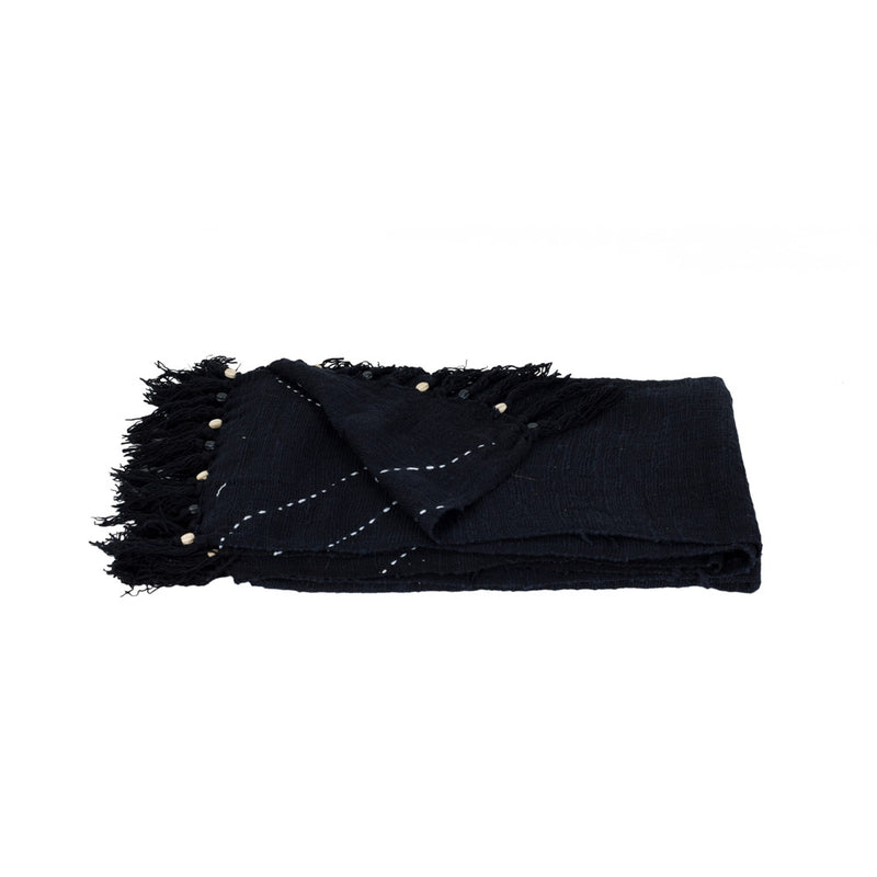 Throw Amara Berber Black 1