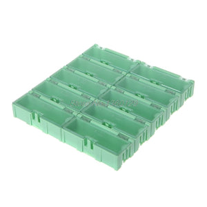 Mini SMD SMT Electronic Box IC Electronic Components Storage Case 75x31.5x21.5mm Wholesale&DropShip