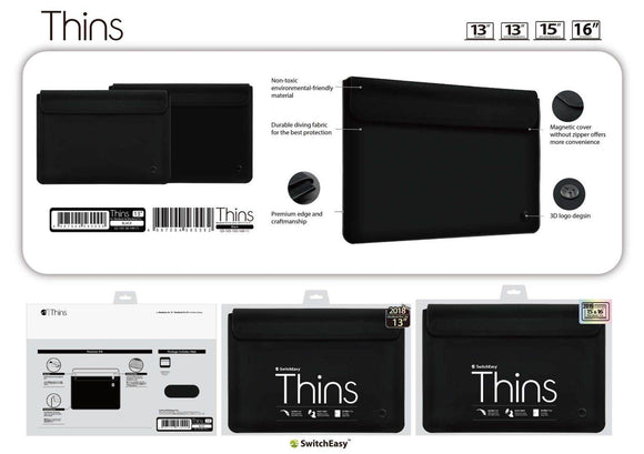 Switcheasy Thins Bag For MacBook Pro , MacBook Air