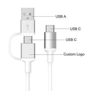 USB-A to Dual Lightning 2 in 1 Fast Charging Cable MA038L