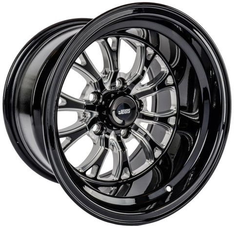 "JEGS SSR Spike Wheel Size: 15"" x 10""  Bolt Pattern: 5 x 4.50"""