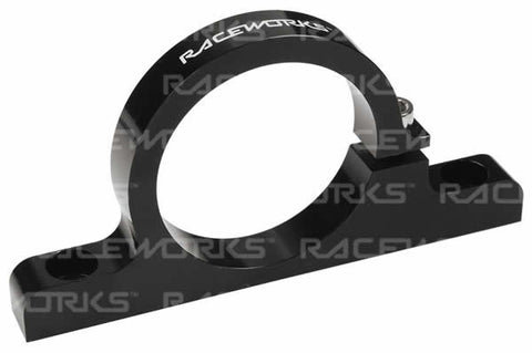 Raceworks Billet Filter Bracket Black 50mm