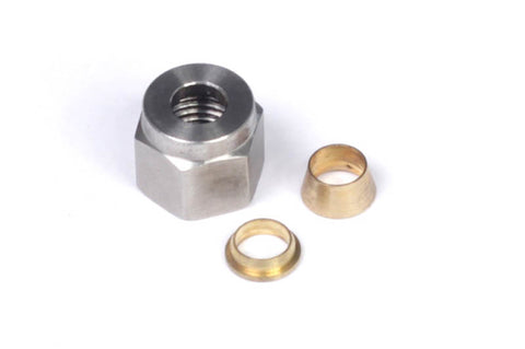 "1/4"" Nut and Brass Ferrule Only"