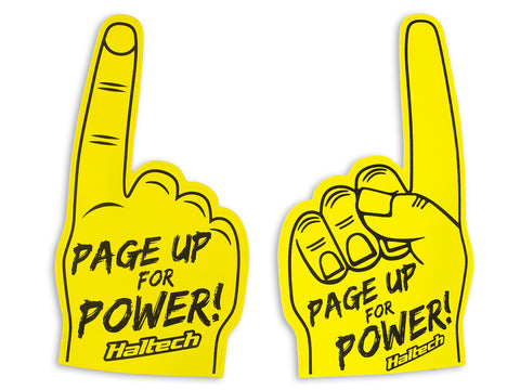 "Haltech ""Page Up for Power"" Foam Finger"