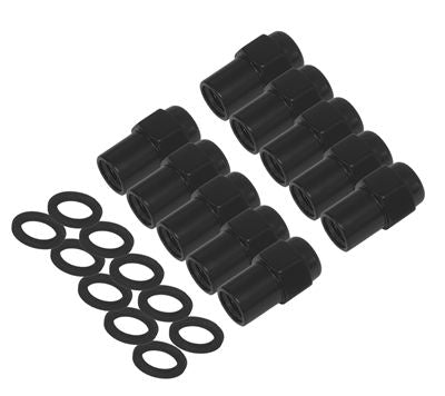 Wheel Nut & Washer kit 7/16', .700 shank for #002 Streetpro GM - Black 10pc