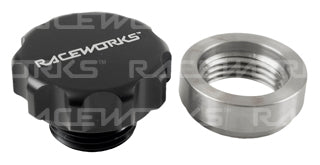 WELD ON STEEL DIFF FILLER WITH BLACK ALUMINIUM MALE CAP 1IN