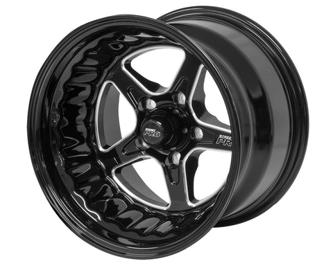 Ford Bolt Circle 5x 4.50' (6) 5.0' Back Space 15x8.5 Black Street Pro ll Convo Wheel