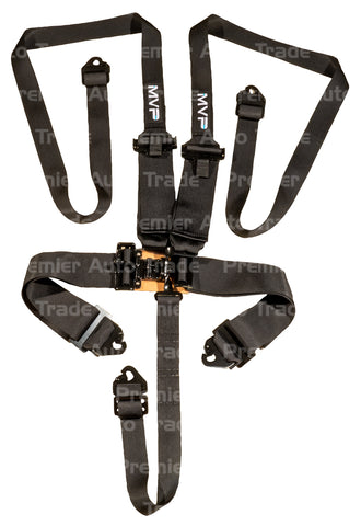5POINT LATCH & LINK HARNESS, SFI APPROVED, HANS 2-3IN BELTS