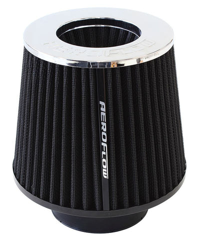 Round Inverted Tapered Air Filter Element with Chrome Ends
