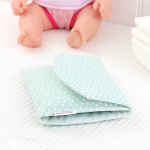 Doll Nappy Wallet - Mint Spot