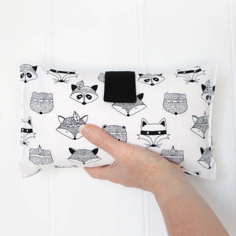 Nappy Wallet - Black and White Foxes