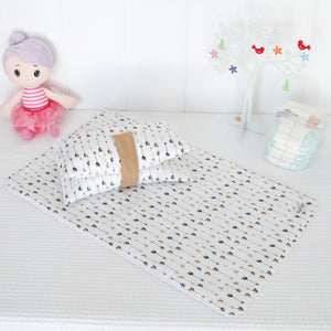 Nappy Wallet and Change Mat Set  - Luxe Gold Arrows