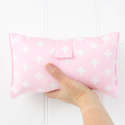 Nappy Wallet - Pink and White Crosses