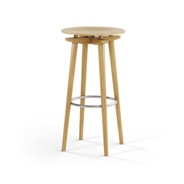 CC Barstool natural oak - seating height 75 cm