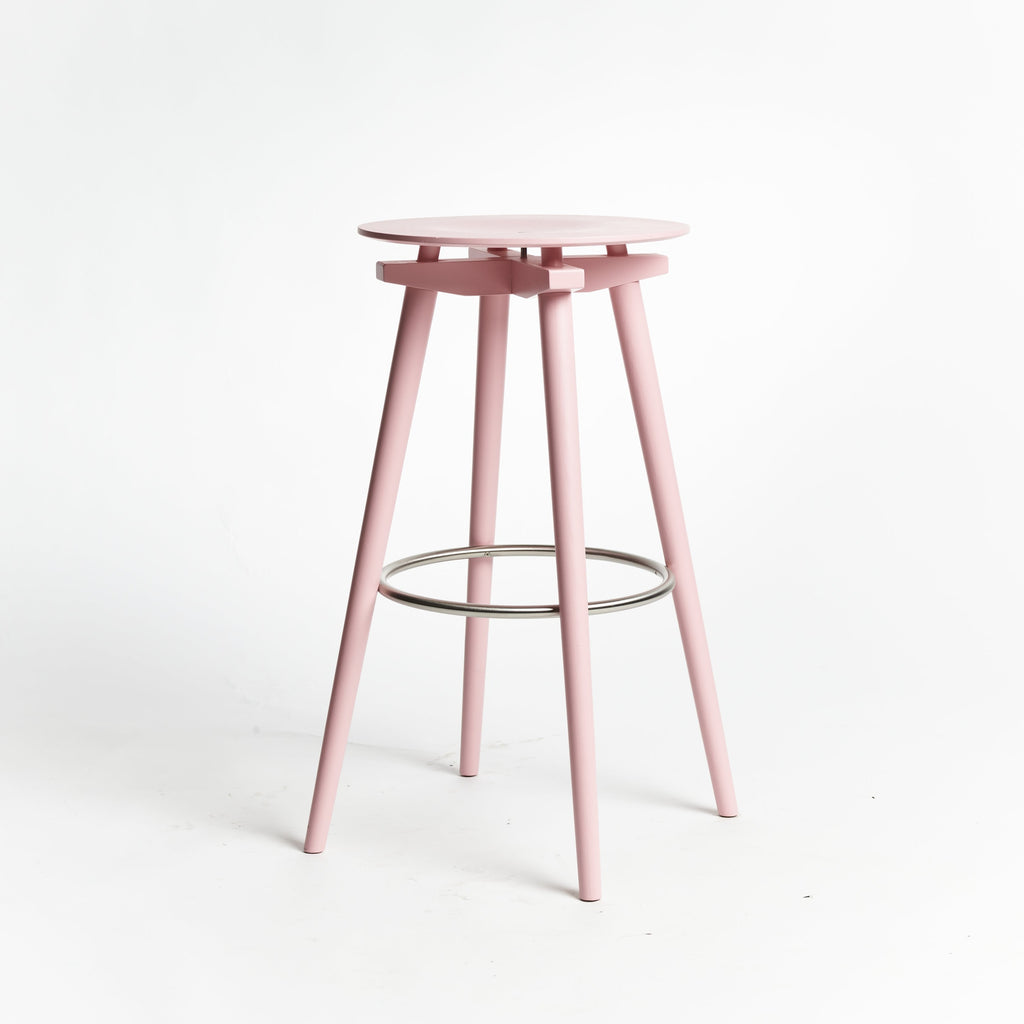 CC Barstool pink - seating height 70 cm