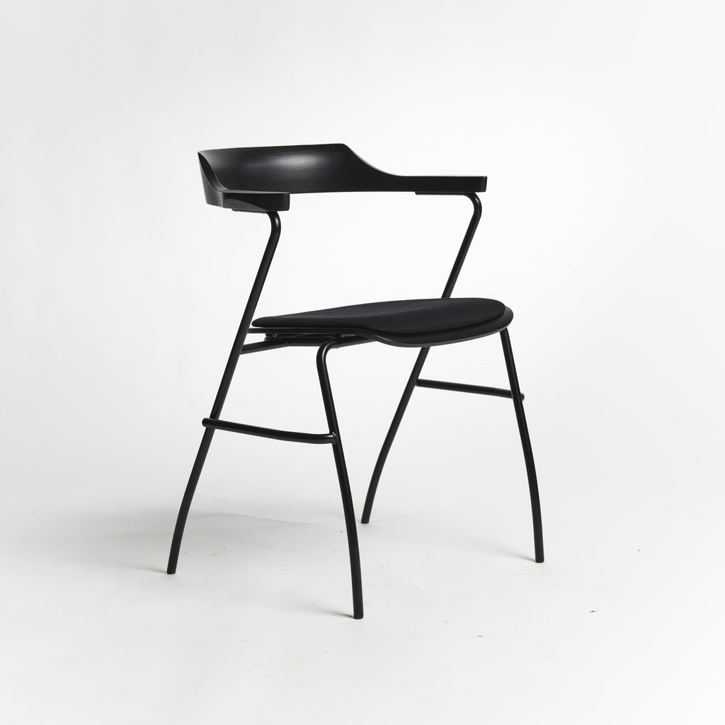 Project Chair offset seat Rohi textile black