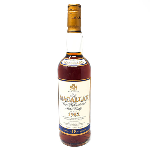 Macallan 18 Year Old 1982 Single Malt Whisky 70cl