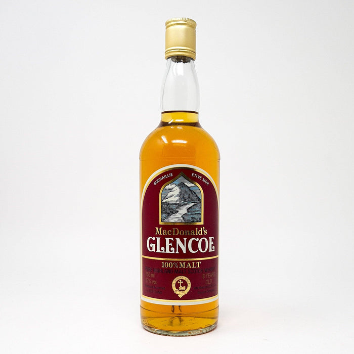 MacDonald's Glencoe 8 Year Old Cask Strength 75cl Whisky Old and Rare Whisky