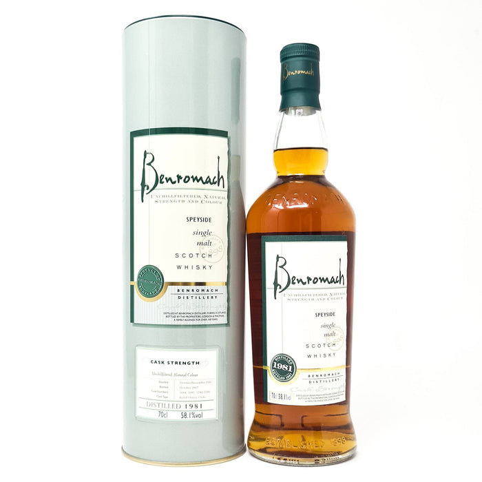 Benromach 1981 Whisky Old and Rare Whisky