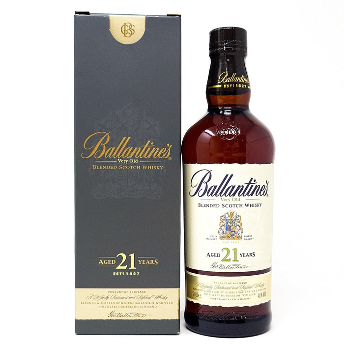 Ballantine's 21 Year Old Very Old Blended Whisky 70cl, 40% ABV Whisky Old and Rare Whisky