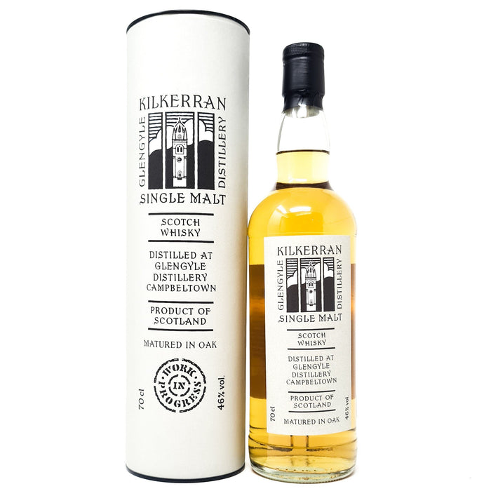 Kilkerran Work in Progress #1 Single Malt 70cl, 46% ABV Whisky Old and Rare Whisky