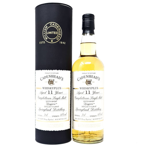 Longrow 11 Year Old Cadenhead 1994 Single Malt 70cl, 58% ABV Whisky Old and Rare Whisky