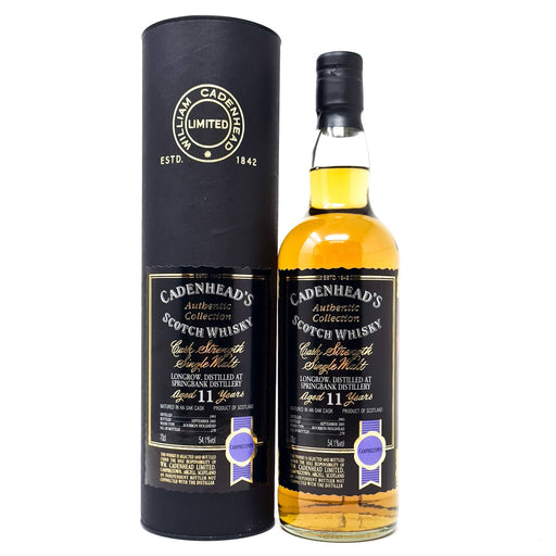 Longrow 11 Year Old Cadenhead 1993 Single Malt 70cl, 54.1% ABV Whisky Old and Rare Whisky