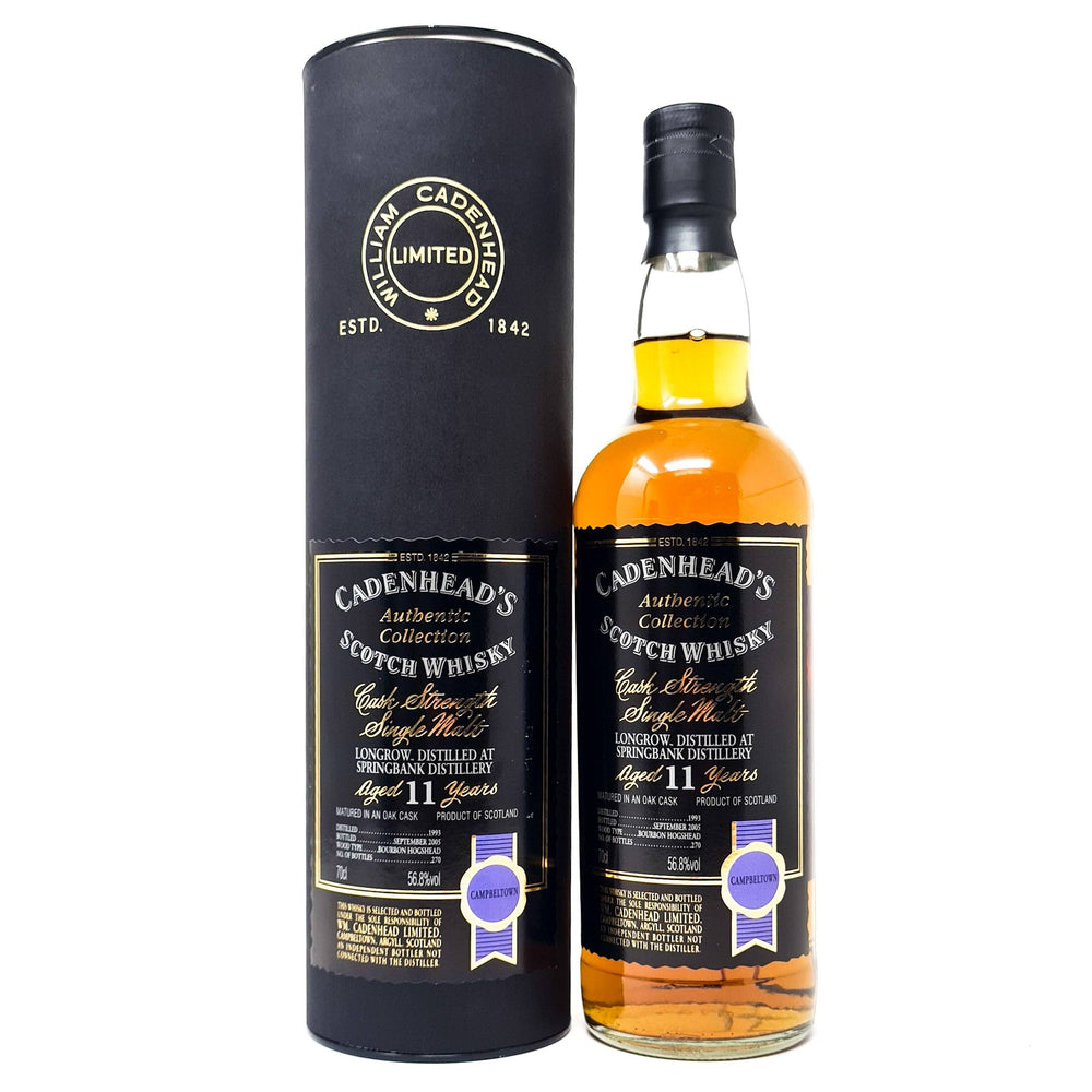 Longrow 11 Year Old Cadenhead 1993 Single Malt 70cl, 56.8% ABV Whisky Old and Rare Whisky