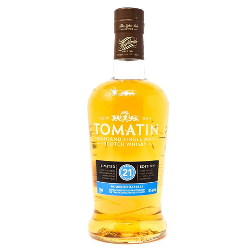 Tomatin 21 Year Old Limited Edition Bourbon Barrels 75cl, 46% ABV Whisky Old and Rare Whisky